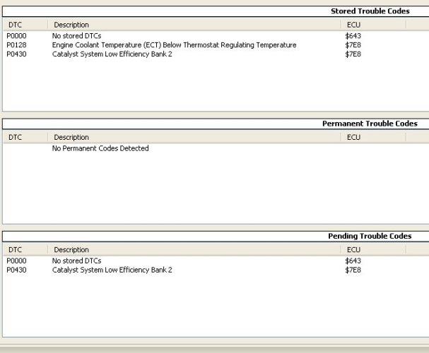 P0430 Diagnostic Help (With OBDII Logs) - Pontiac G6 Forum
